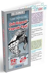 Oscar Yayınları - Oscar Yayınları 6. Sınıf Tüm Dersler Çek Kopart Yaprak Test