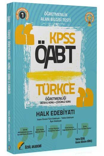 Özdil Akademi 2021 ÖABT Türkçe Öğretmenliği 1. Kitap Halk Edebiyatı Konu Anlatımlı