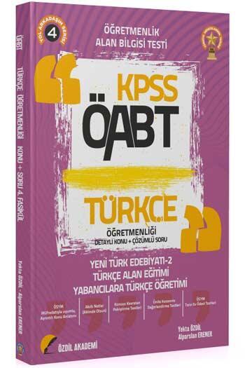Özdil Akademi 2021 ÖABT Türkçe Öğretmenliği 4. Kitap Yeni Türk Edebiyatı-2 Konu Anlatımlı