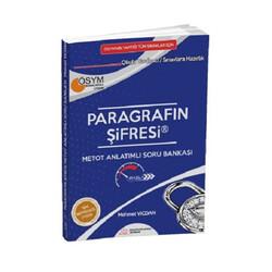 Paragrafın Şifresi Yayınları - Paragrafın Şifresi Yayınları YKS TYT KPSS ALES Paragrafın Şifresi Metot Anlatımlı Soru Bankası