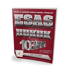 Pelikan Yayıncılık - Pelikan Yayıncılık 2018 KPSS ve Kurum Sınavlarına Yönelik ESAS Hukuk 10 Çözümlü Deneme