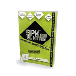 Pelikan Yayıncılık - Pelikan Yayıncılık SPK'nın El Kitabı Yatırım Kuruluşları