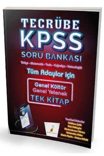 Pelikan Yayınları 2020 KPSS Genel Yetenek Genel Kültür Tecrübe Dijital Çözümlü Soru Bankası