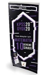 Pelikan Yayıncılık - Pelikan Yayınları 2020 KPSS Matematik Dijital Çözümlü 10 Deneme Sınavı