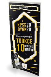 Pelikan Yayıncılık - Pelikan Yayınları 2020 KPSS Türkçe Dijital Çözümlü 10 Deneme Sınavı