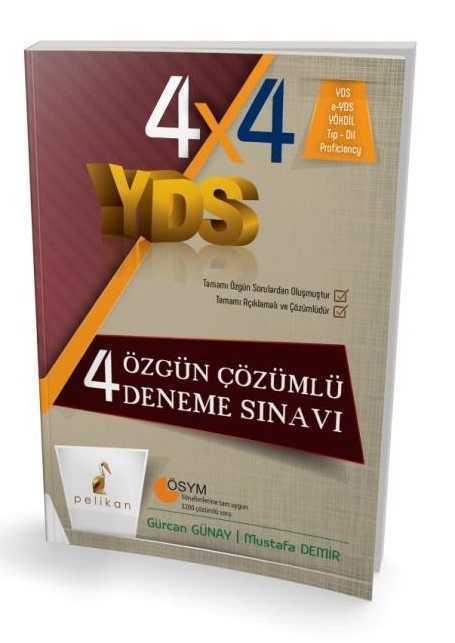 Pelikan Yayınları YDS 4 Özgün Çözümlü Deneme Sınavı