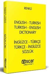 Oscar Yayınları - Renkli Plastik Kapak İngilizce-Türkçe Türkçe-İngilizce Sözlük Oscar Yayınları