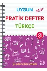 Sadık Uygun Yayınları - Sadık Uygun Yayınları 8. Sınıf Türkçe Pratik Defter