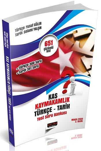 Savaş Yayınları K.A.S. Kaymakamlık Sınavı Türkçe-Tarih Test Soru Bankası