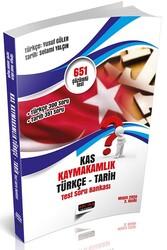 Savaş Yayınevi - Savaş Yayınları K.A.S. Kaymakamlık Sınavı Türkçe-Tarih Test Soru Bankası