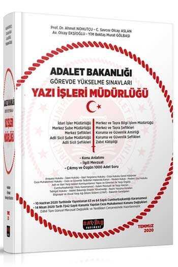 Savaş Yayınları 2020 Adalet Bakanlığı GYS Sınavları Yazı İşleri Müdürlüğü Konu Anlatımı ve 1000 Soru