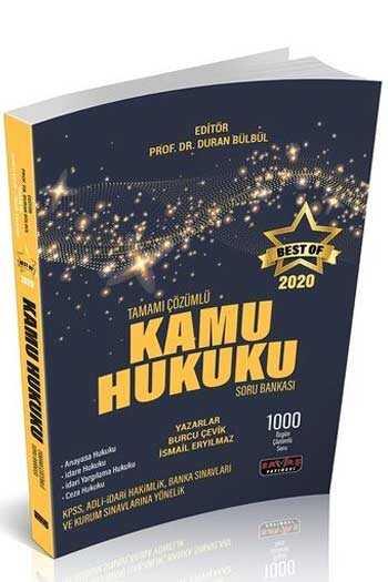 Savaş Yayınları 2020 BEST OF Kamu Hukuku Tamamı Çözümlü Soru Bankası