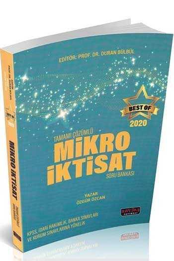 Savaş Yayınları 2020 BEST OF Mikro İktisat Tamamı Çözümlü Soru Bankası