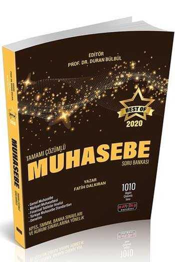 Savaş Yayınları 2020 BEST OF Muhasebe Tamamı Çözümlü Soru Bankası