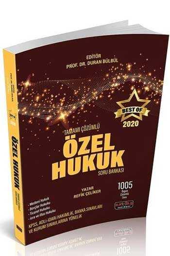 Savaş Yayınları 2020 BEST OF Özel Hukuk Tamamı Çözümlü Soru Bankası