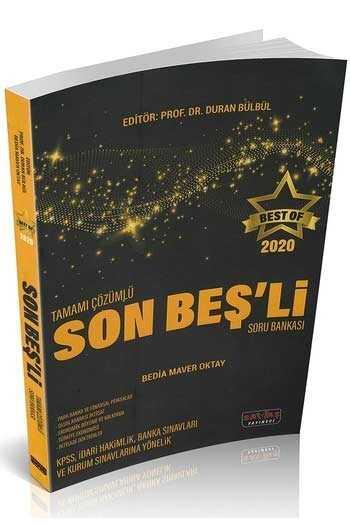 Savaş Yayınları 2020 BEST OF Son Beşli Tamamı Çözümlü Soru Bankası