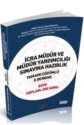Savaş Yayınevi - Savaş Yayınları 2020 İcra Müdür ve Müdür Yardımcılığı Sınavlarına Hazırlık Tamamı Çözümlü 5 Deneme
