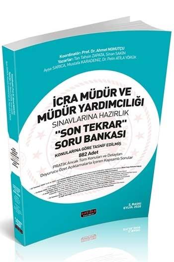 Savaş Yayınları 2020 İcra Müdür ve Müdür Yardımcılığı Son Tekrar Soru Bankası 2. Baskı