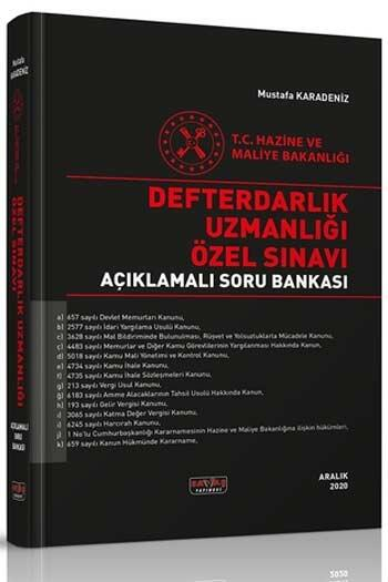 Savaş Yayınları 2021 Defterdarlık Uzmanlığı Özel Sınavı Açıklamalı Soru Bankası