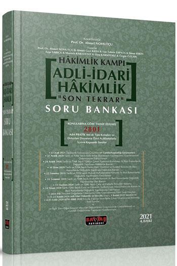 Savaş Yayınları 2021 Hakimlik Kampı Adli-İdari Hakimlik Son Tekrar Soru Bankası