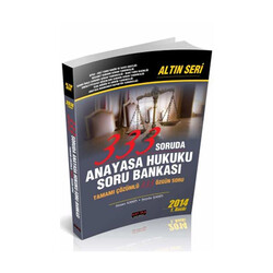 Savaş Yayınevi - Savaş Yayınları 333 Soruda Anayasa Hukuku Soru Bankası Altın Seri