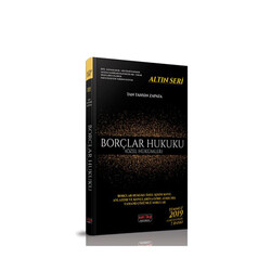 Savaş Yayınevi - Savaş Yayınları Borçlar Hukuku Özel Hükümler Altın Seri