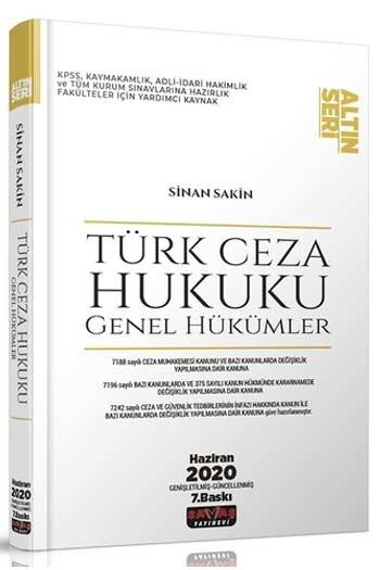 Savaş Yayınları Türk Ceza Hukuku Genel Hükümler Altın Seri 7. Baskı