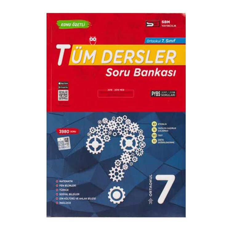 SBM Yayınları 7. Sınıf Tüm Dersler Soru Bankası