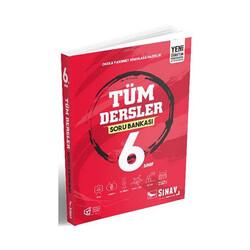 Sınav Dergisi Yayınları - Sınav Yayınları 6. Sınıf Tüm Dersler Soru Bankası