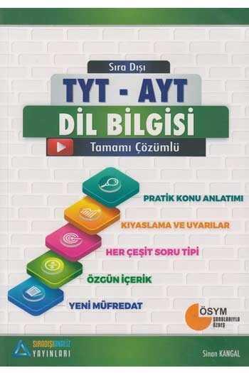 Sıradışıanaliz Yayınları Dil Bilgisi Tamamı Çözümlü Konu Anlatımlı Soru Bankası