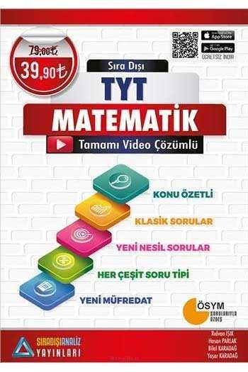 Sıradışıanaliz Yayınları TYT Matematik Tamamı Video Çözümlü Konu Özetli Soru Bankası
