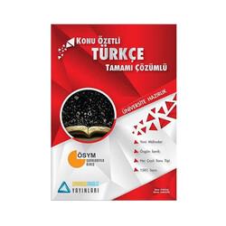 Sıradışıanaliz Yayınları - Sıradışıanaliz Yayınları TYT Türkçe Konu Özetli Tamamı Çözümlü Soru Bankası