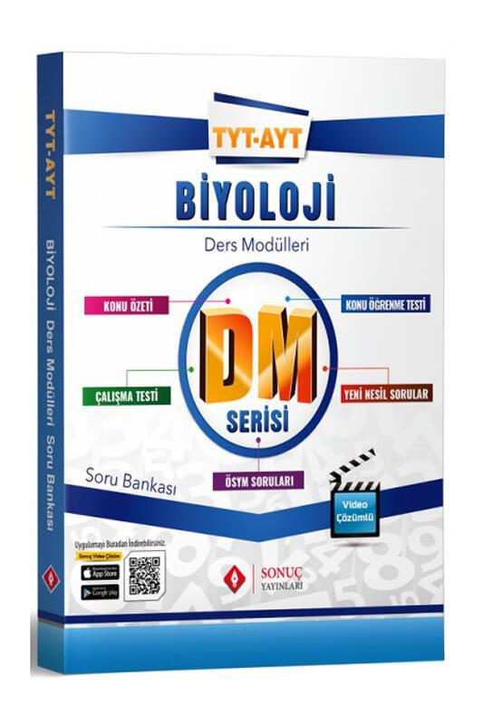 Sonuç Yayınları TYT AYT Biyoloji DM Ders Modülleri Soru Bankası