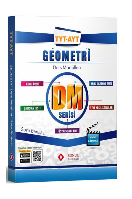 Sonuç Yayınları TYT AYT Geometri DM Ders Modülleri Soru Bankası