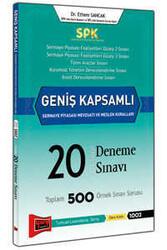 Yargı Yayınları - SPK Geniş Kapsamlı Sermaye Piyasası Mevzuatı ve Meslek Kuralları Cevaplı 20 Deneme Sınavı Yargı Yayınları