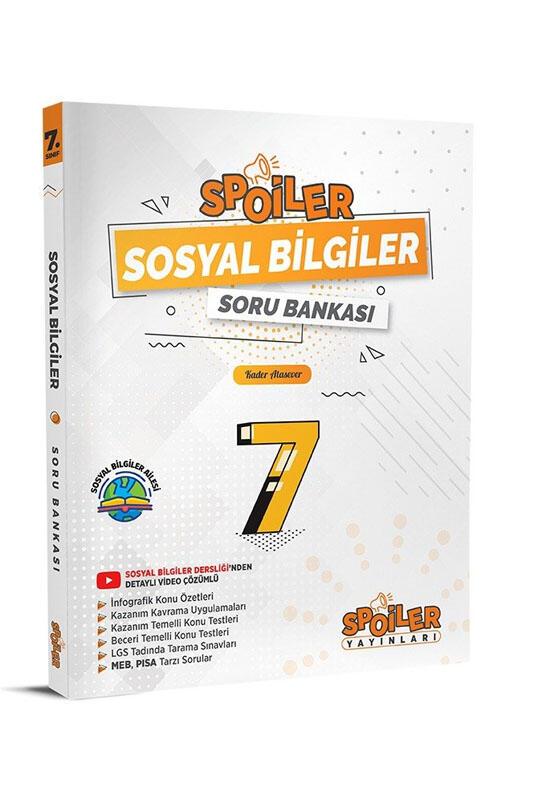 Spoiler Yayınları 7. Sınıf Sosyal Bilgiler Spoiler Soru Bankası