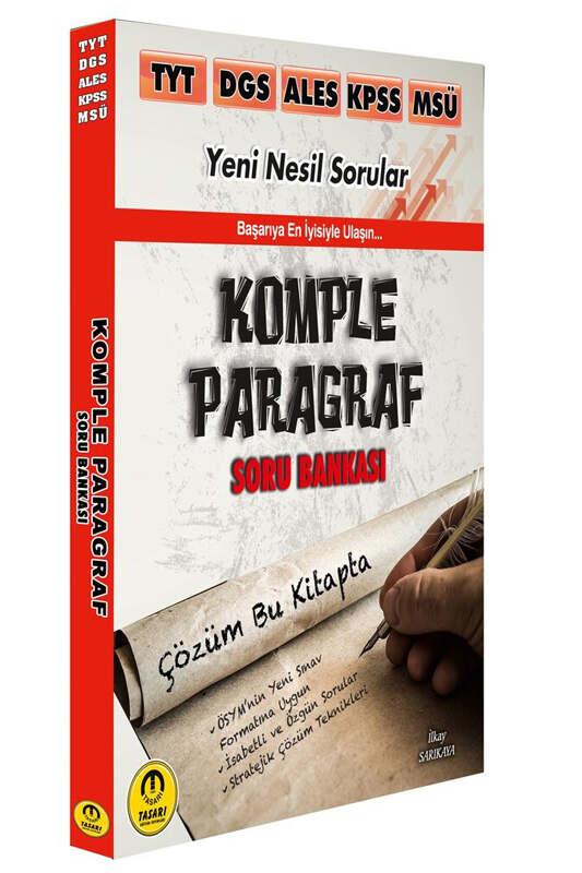 Tasarı Eğitim Yayınları TYT DGS ALES KPSS MSÜ Komple Paragraf Soru Bankası