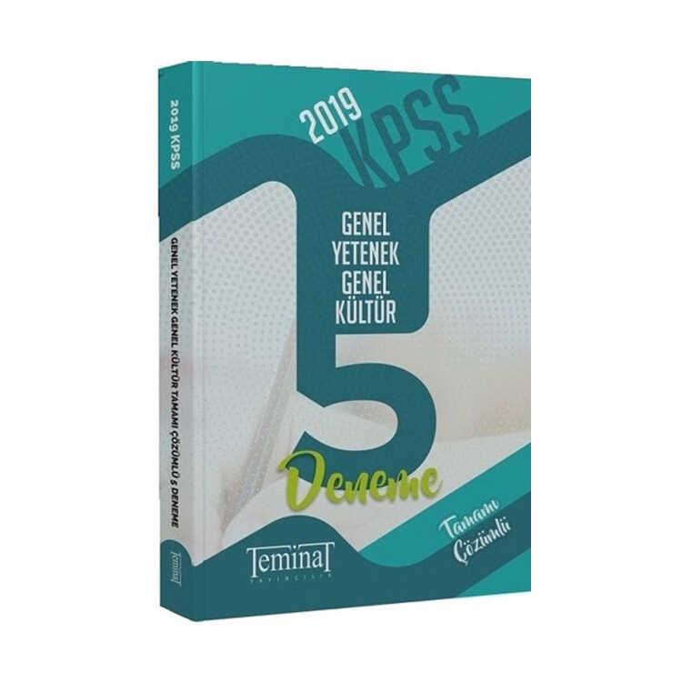 Teminat Yayınları 2019 KPSS Genel Yetenek Genel Kültür 5 Deneme