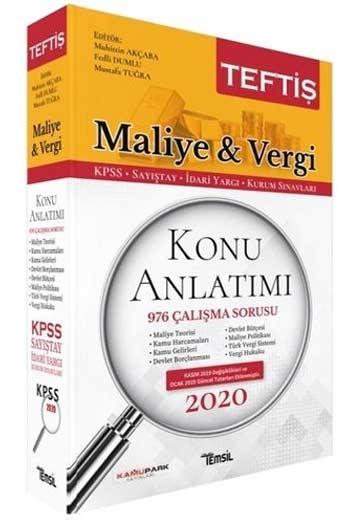 Temsil Yayınları 2020 KPSS A Grubu Teftiş Maliye Vergi Hukuku Konu Anlatımı