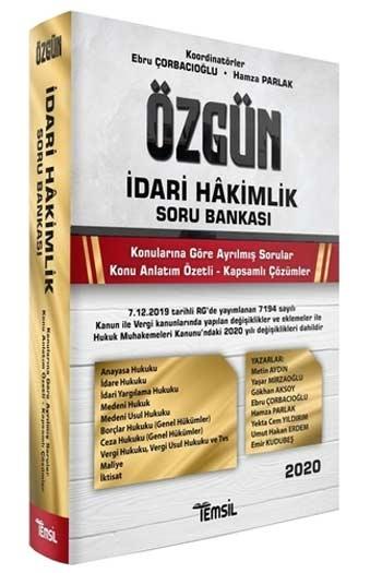 Temsil Yayınları 2020 Özgün İdari Hakimlik Soru Bankası