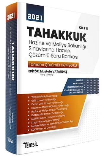Temsil Yayınları 2020 TAHAKKUK Hazine ve Maliye Bakanlığı Sınavlarına Hazırlık Çözümlü Soru Bankası Cilt 2