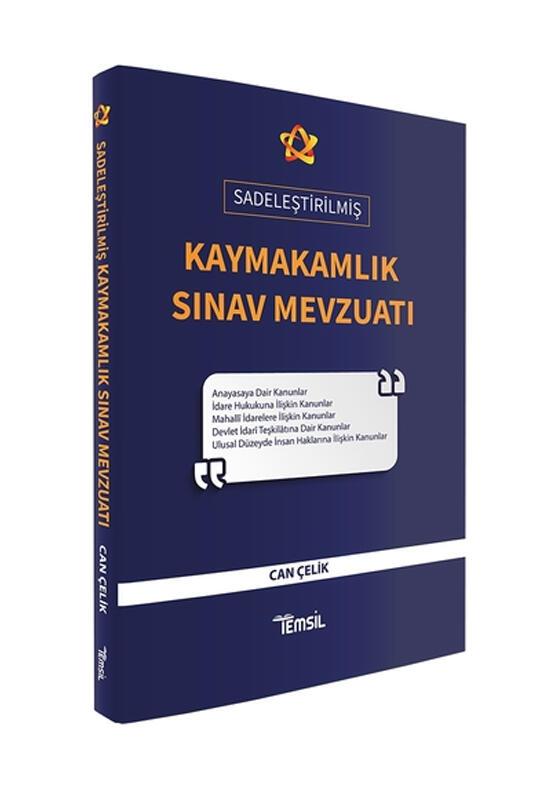 Temsil Yayınları 2021 Sadeleştirilmiş Kaymakamlık Sınav Mevzuatı