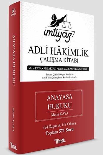 Temsil Yayınları İmtiyaz Adli Hakimlik Çalışma Kitabı Anayasa Hukuku