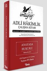 Temsil Yayınları - Temsil Yayınları İmtiyaz Adli Hakimlik Çalışma Kitabı Anayasa Hukuku