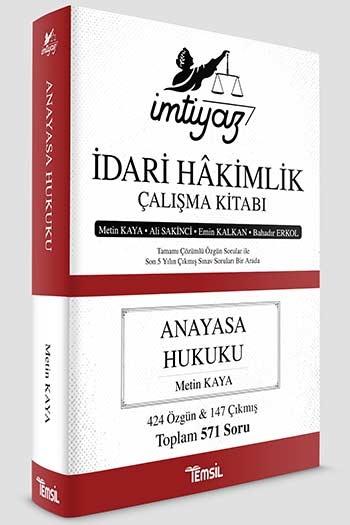 Temsil Yayınları İmtiyaz İdari Hakimlik Çalışma Kitabı Anayasa Hukuku