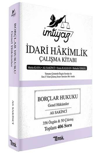 Temsil Yayınları İmtiyaz İdari Hakimlik Çalışma Kitabı Borçlar Hukuku Genel Hükümler