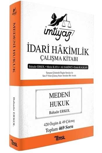 Temsil Yayınları İmtiyaz İdari Hakimlik Çalışma Kitabı Medeni Hukuk