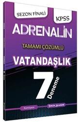 Tercih Akademi - Tercih Akademi Yayınları 2020 KPSS Adrenalin Vatandaşlık Tamamı Çözümlü 7 Deneme
