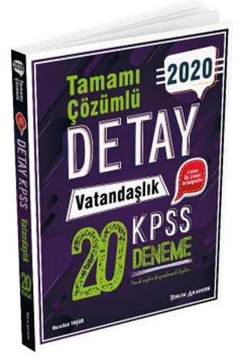 Tercih Akademi Yayınları 2020 KPSS Detay Vatandaşlık Tamamı Çözümlü 20 Deneme
