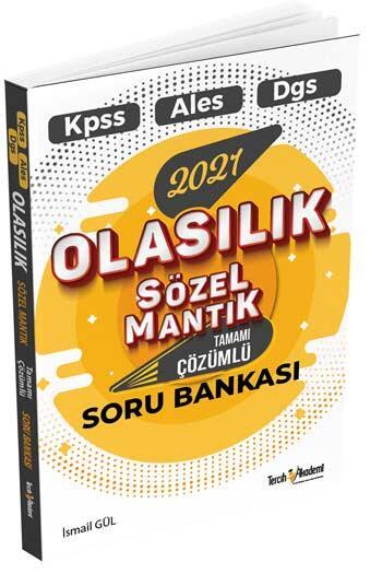 Tercih Akademi Yayınları 2021 KPSS DGS ALES Olasılık Sözel Mantık Tamamı Çözümlü Soru Bankası
